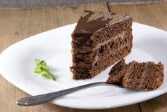 испеките ломтик шоколада Стоковое Изображение
