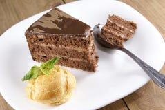 испеките ломтик шоколада Стоковое Фото