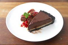 испеките часть шоколада Стоковые Фото