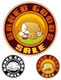 Испеките эмблему продажи Стоковые Изображения