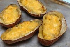 испеченная картошка дважды Популярное блюдо в США Стоковое Изображение