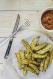 Испеченная картошка на плите Стоковое Фото