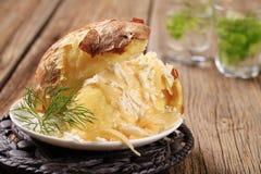 испеченная картошка сыра стоковая фотография rf