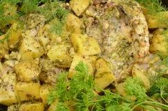 испеченная картошка цыпленка Стоковая Фотография