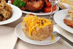 испеченная картошка Стоковое Изображение