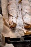 испеченная печь свертывает с яблоком Стоковое Изображение RF