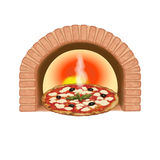 испеченная свеже пицца иллюстрация вектора