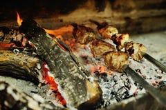 Испеченное мясо на гриле Стоковое Изображение RF