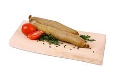 Испеченное мясо на деревянной плите Стоковое Изображение RF