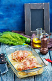 Испеченное мясо с картошкой Стоковое Изображение