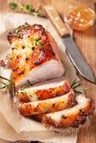 Испеченное мясо с оранжевым вареньем плодоовощ Стоковое Изображение RF