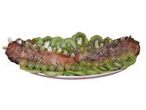 Испеченное мясо с плодоовощами и семенами тыквы Стоковые Фотографии RF