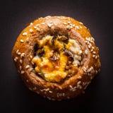 Испеченное печенье с семенами сезама Стоковые Фото
