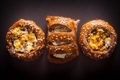 Испеченное печенье с семенами сезама Стоковые Изображения