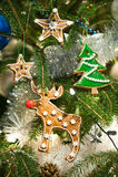 Испеченное украшение рождественской елки Стоковые Изображения