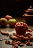 испеченное яблоко Стоковые Изображения