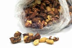 Испеченные арахисы для концепции еды Стоковая Фотография