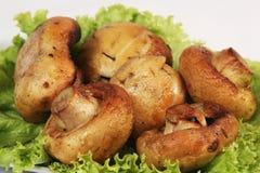 испеченные грибы Стоковая Фотография