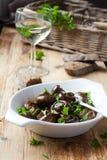Испеченные грибы champignons Стоковые Фотографии RF