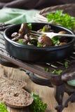 Испеченные грибы champignons Стоковое фото RF