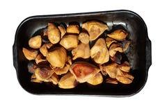 Испеченные груши на белизне Стоковое Изображение