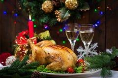 Испеченные индюк или цыпленок Стоковая Фотография RF