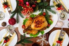 Испеченные индюк или цыпленок Стоковая Фотография