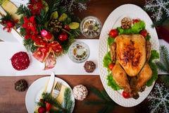 Испеченные индюк или цыпленок Стоковые Фото