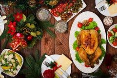 Испеченные индюк или цыпленок стоковое фото rf