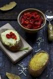 Испеченные картошки Стоковые Фотографии RF