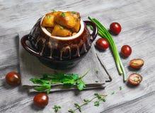 Испеченные картошки, foto еды Стоковое фото RF