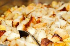 испеченные коричневые картошки хэша Стоковое Фото