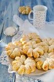 Испеченные кольца печенья слойки ананаса Стоковая Фотография RF