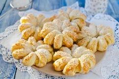 Испеченные кольца печенья слойки ананаса Стоковая Фотография