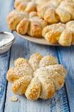 Испеченные кольца печенья слойки ананаса Стоковые Фотографии RF