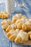 Испеченные кольца печенья слойки ананаса Стоковое фото RF