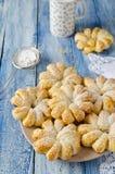 Испеченные кольца печенья слойки ананаса Стоковое Фото