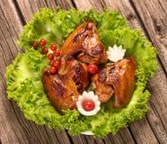 испеченные крыла цыпленка Стоковая Фотография