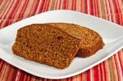 испеченные ломтики 2 тыквы хлеба свеже Стоковое Изображение RF