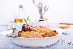 испеченные ноги цыпленка Стоковая Фотография RF