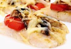 испеченные овощи рыб Стоковые Фото