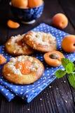 Испеченные пироги абрикоса покрытые с streusel Стоковая Фотография RF