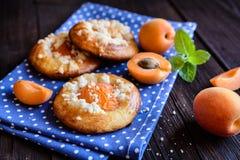Испеченные пироги абрикоса покрытые с streusel Стоковое Фото