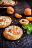 Испеченные пироги абрикоса покрытые с streusel Стоковое Изображение RF