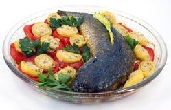 испеченные рыбы Стоковые Изображения