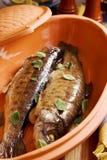 испеченные рыбы стоковые изображения rf