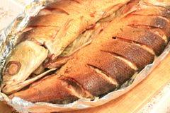 Испеченные рыбы стоковое изображение