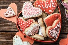 Испеченные сердца на день валентинки Стоковые Фотографии RF