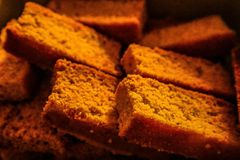 Испеченные сухари торта стоковое фото rf