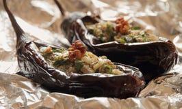 испеченные aubergines Стоковая Фотография RF